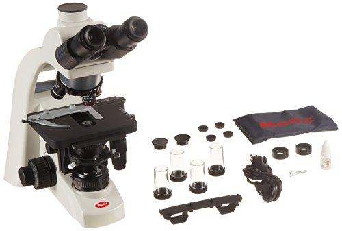 Motic 1100100401371 Series BA310 LED Trinocular Compound Microscope, N-WF10x Eyepieces, Plan Objectives, 40x-1000x Magnification, Brightfield, Kohler, LED Illumination, Abbe Condenser with Iris Diaphragm, Mechanical Stage, 100V-240V (110V Plug)