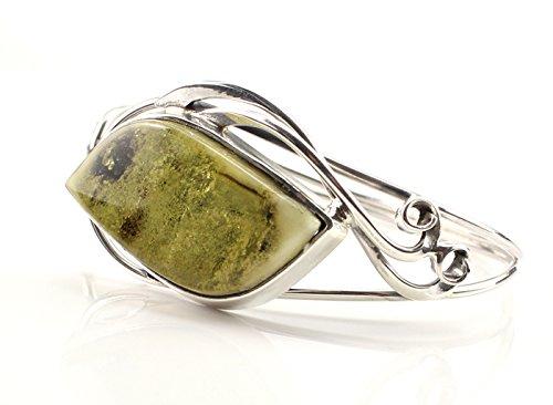 Fait main avec BRACELET vert Pierre ambre de la Baltique authentique