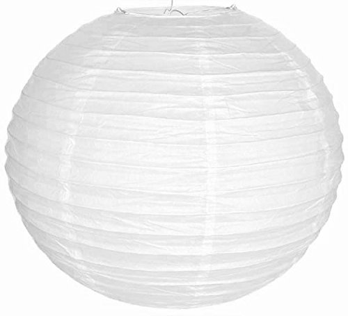 "Just Artifacts 10pcs 36"" Jumbo White Paper Lanterns - Free S"