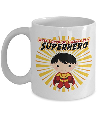 Superhero Super Man Girl Nerd Comic Mug