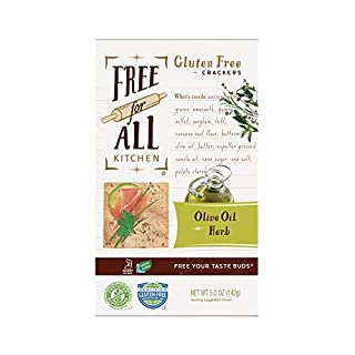 Free For All Kitchen Gluten Free Crackers, Olive Oil & Herb, 5 Ounce