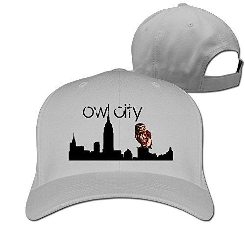 BODAP Owl City Logo Adjustable Baseball Cap Ash