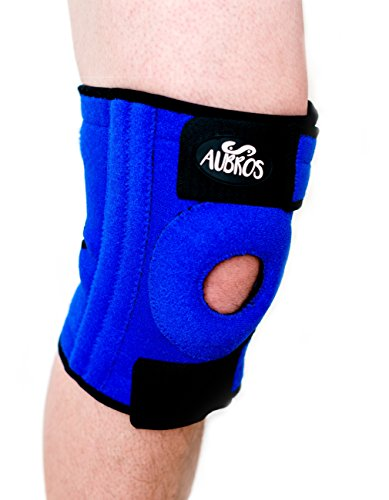 Knee Brace Support with Dual Metal Stabilizers for Meniscus Tear Tendonitis Arthritis Pain Provides Compression for the Patella with Breathable Neoprene and Non-Slip Silicone ()