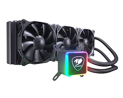 Cougar Aqua High-Performance CPU Liquid Cooler with Vibrant and Dazzling RGB LED Pump Head and a Remote Controller (Aqua 360)