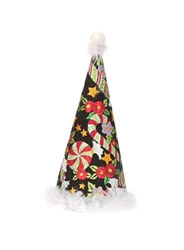 Mark Roberts Collectible Mary Engelbreit Candy Cane Christmas Cone Tree - Small 11.5