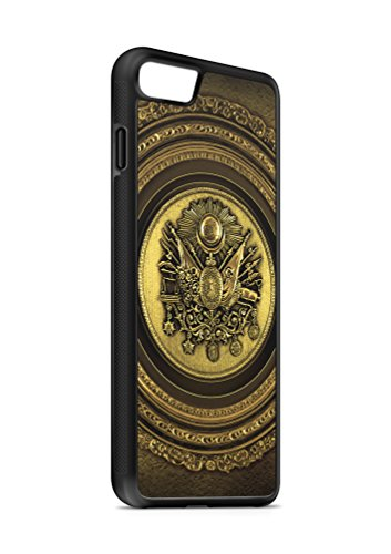 iPhone 6 6s Osmanli Armasi Tugrasi 3 SILIKON Flipcase Tasche Hülle Case Cover Schutz Handy SCHWARZ
