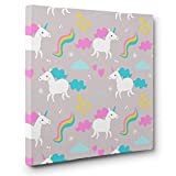 Unicorn Pattern CANVAS Wall Art Home Décor