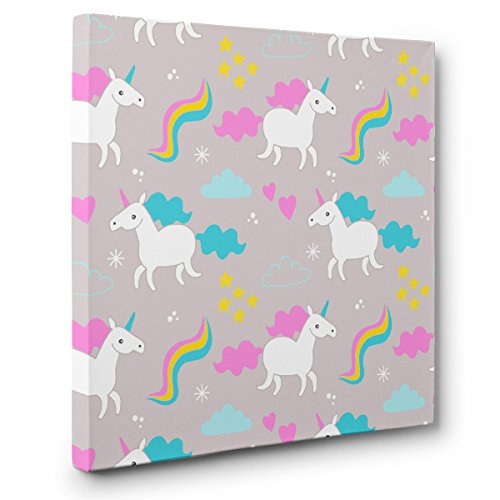 Unicorn Pattern CANVAS Wall Art Home Décor by Paper Blast