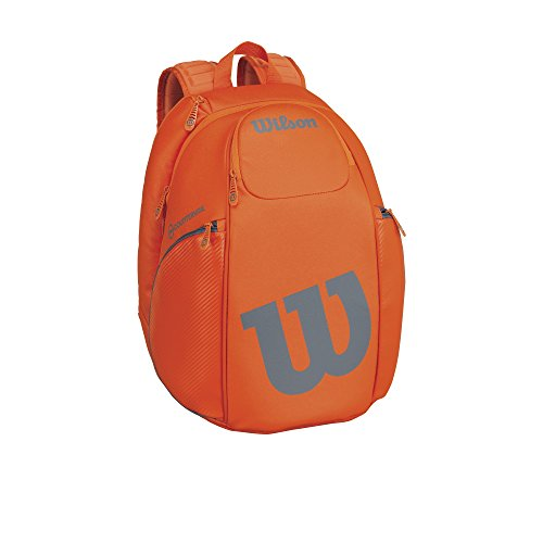 Wilson Burn Collection Racket Backpack, Orange/Gray by Wilson
