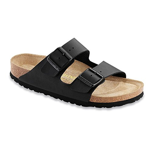 (Birkenstock Unisex Arizona Soft Footbed Black Sandals - 7-7.5 2A(N) US Women)