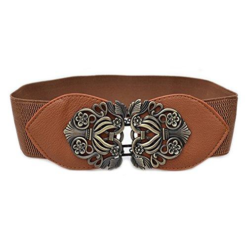 Women's Fashion Vintage Wide Elastic Stretch Waist Belt Waistband