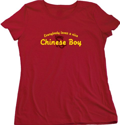 EVERYBODY LOVES A NICE CHINESE BOY Ladies Cut T-shirt Cute China Pride Tee