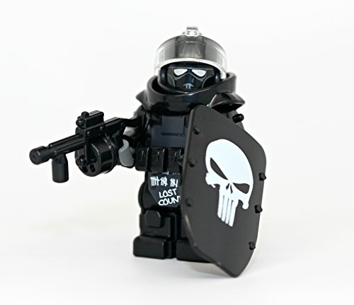 Custom Juggernaut Army Assault Soldier Call of Duty Skull - Modern Brick Warfare Custom Minifigure (Body Assault Full)