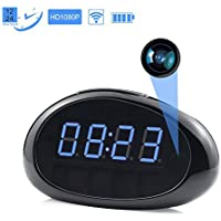 NexGadget 1080P Security Wireless Clock Camera, Motion Detective Record, Support Remote View, Day Vision Only (black)
