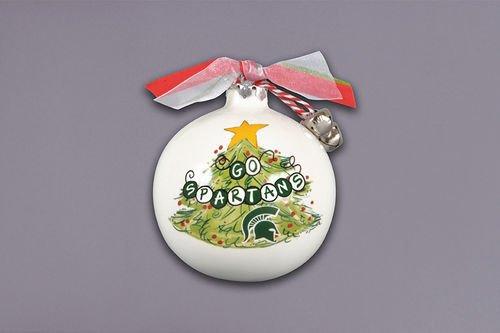 Magnolia Lane Collegiate Christmas Tree Ornament (Michigan State)