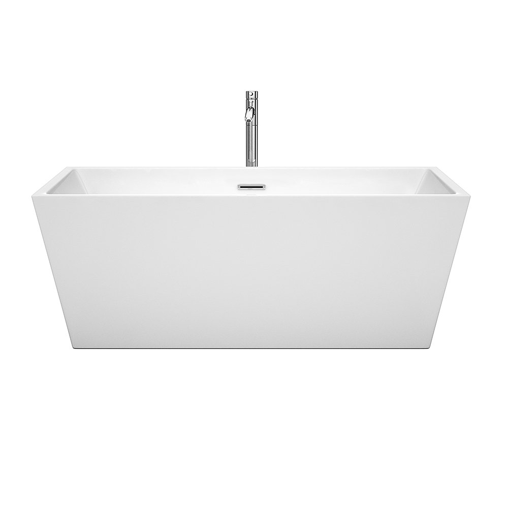Wyndham Collection Sara  Inch Freestanding Bathtub For Bathroom - Drain for freestanding tub