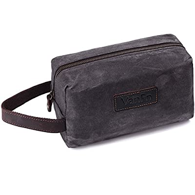 2c298130263c 30%OFF VanFn Toiletry Bags, Vintage Leather Canvas Toiletry Bag ...