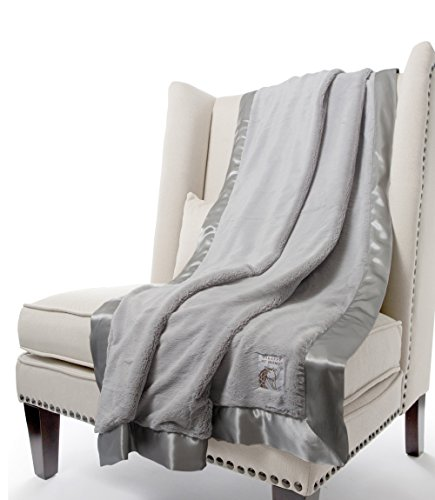 Giraffe at Home Luxe Plush Faux Fur Throw Blanket, Silver, 45'' x 59'' by Giraffe at Home