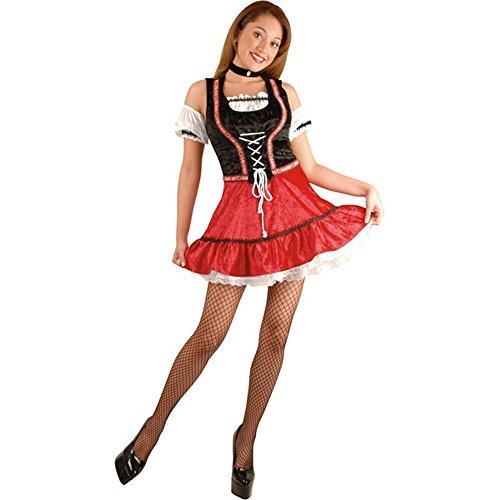Adult Beer Garden Girl Costume (Sz:X-Large 18-22) (Beer Garden Girl Costume)