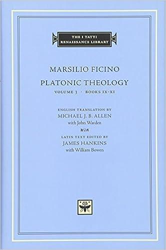Amazon com: Platonic Theology, Volume 3: Books IX–XI (The I