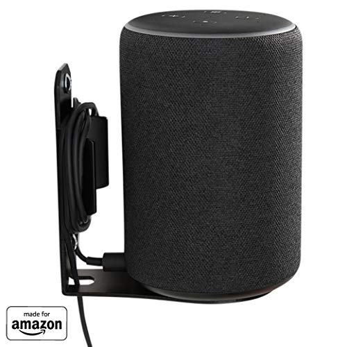 """Made for Amazon"" Wall Mount for Echo (2nd Gen or 3rd Gen) and Echo Plus (2nd Gen) – Black"