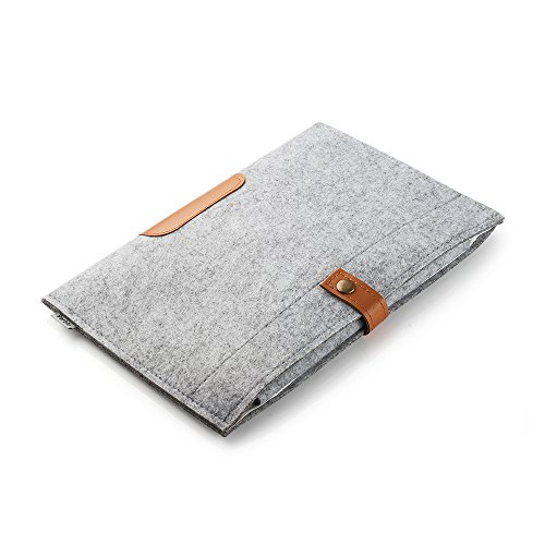 Felt Ipad Wool - Parblo 10x 7.5inch PR-10 Wool Liner Bag Sleeve Case Cover Carrying Bag for Drawing Graphic Tablet/iPad 2/3/4/Air