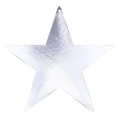Silver Bulk Foil Star Cutouts | 5"