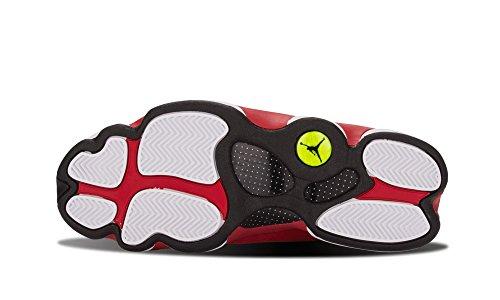 Nike Heren Air Jordan 13 Retro Grijze Teen Wit / Zwart / Cement Grijs-true Rood Lederen Basketbalschoenen Maat 9.5