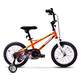 COEWSKE BMX Cycling Kid Bikes Children Bicycle for Girl and Boy 12-16 Inch with Training Wheel(14' Orange)