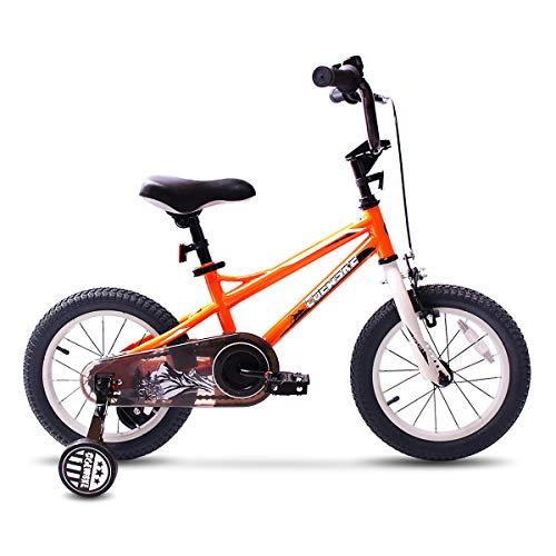 COEWSKE BMX Cycling Kid Bikes Children Bicycle for Girl and Boy 12-16 Inch with Training Wheel(14 Orange)