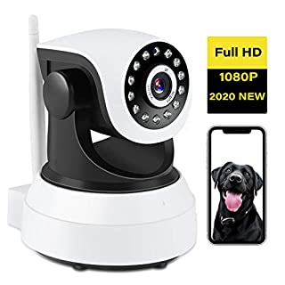 Dog Camera - 1080P Dog Camera with Phone App,TSW HD Wireless IP Camera with Night Vision/2-Way Audio, Pan/Tilt Wifi Indoor Home Dome Pet Baby Nanny Cams,Remote Surveillance Monitor with Cell Phone app