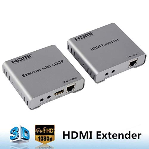 avedio links 165ft (50m) HDMI Extender Over Single CAT5e/CAT6/7 Ethernet Cable with Bi-Directional IR Control,Loop-Out HDMI Port- Support EDID Management,HDMI 1.4a,Full HD 1080P and 3D-165ft (50m)
