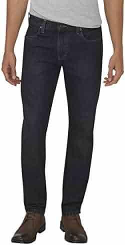 Dickies Mens LD200 Industrial Double Knee Jean-WRINKLED TINT INDIGO BLUE-46x33