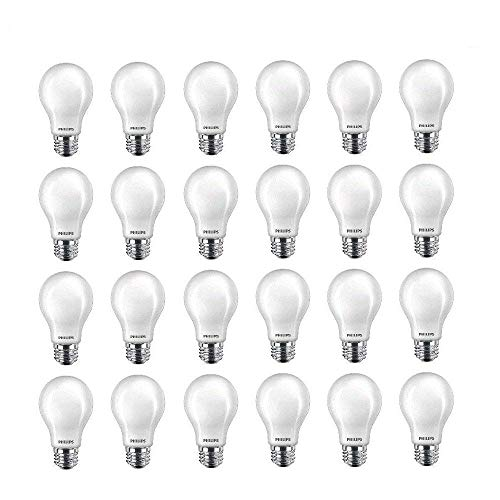 Philips LED 545921 Non-Dimmable A19 Light Bulb: 800-Lumen, 2700-Kelvin, 10 (60 Watt Equivalent), E26 Base, Soft White, 24-Pack, 24 Count