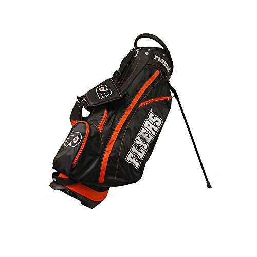 Philadelphia Flyers Light - Team Golf NHL Philadelphia Flyers Fairway Golf Stand Bag, Lightweight, 14-way Top, Spring Action Stand, Insulated Cooler Pocket, Padded Strap, Umbrella Holder & Removable Rain Hood