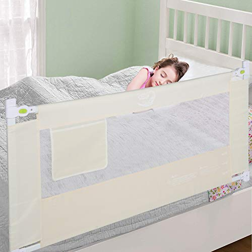 Bed Rail for Toddler, Foldable Baby Kids Safety Bedrail 78.7