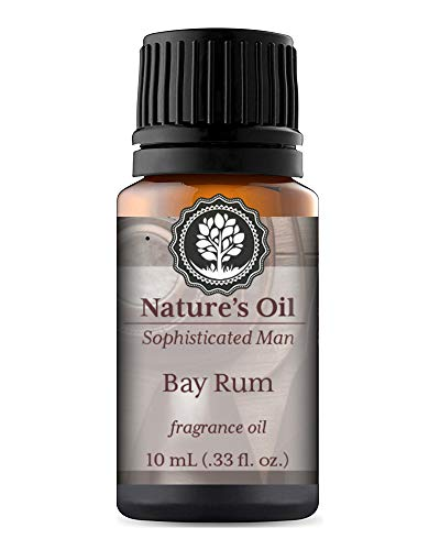 Bay Rum Fragrance Oil 10ml for Men's Cologne, Diffuser Oils, Making Soap, Candles, Lotion, Home Scents, Linen Spray and Lotion (Bay Rum Essential Oil)