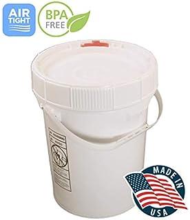 Amazoncom Living Whole Foods 5 Gallon White Bucket Lid Set Of