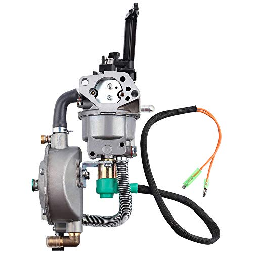 HIPA Generator Dual Fuel Carburetor LPG CNG Conversion kit 4.5-5.5KW GX390 188F Manual Choke (Tri Fuel Propane Natural Gas Generator Conversion Kit)