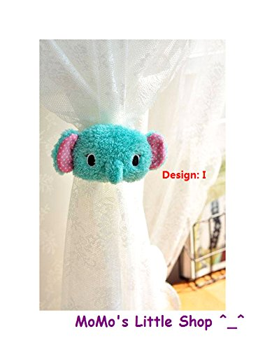 baby nursery curtain tie backs Crochet elephant curtain tie backs crib  hanging buddy elephant nursery theme | 500x379