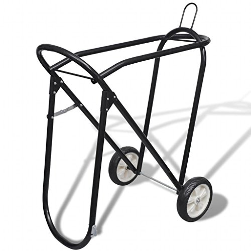 Unfade Memory Metal Foldable Saddle Rack with Wheels with Superb Craftsmanship and a Cool Look
