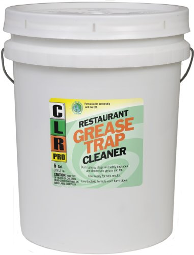 CLR Pro GRT-5Pro Commercial Drain Line and Grease Trap Treatment, 5 Gallon Pail