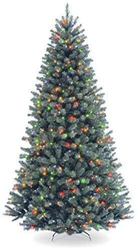 National Tree 7.5 Foot North Valley Spruce Blue Tree with 700 Multicolored Lights (NRVB7-307-75)