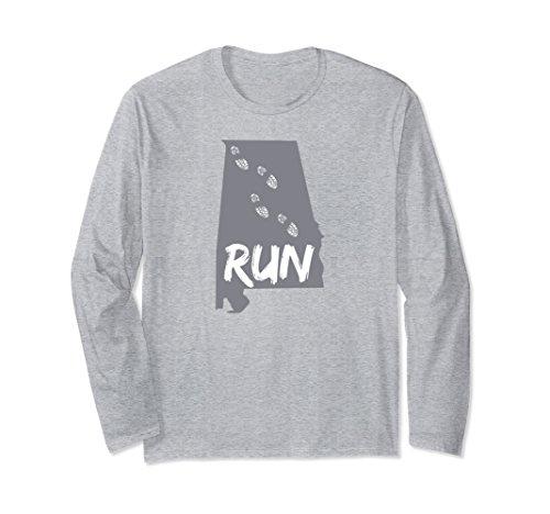 Unisex Running Shirts - Run Alabama Runners Long Sleeve Shirt 2XL Heather (Alabama Runner)