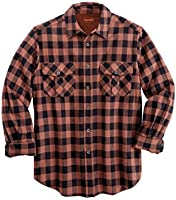 Boulder Creek Men's Big & Tall Buffalo Check Western Shirt, Chestnut Check