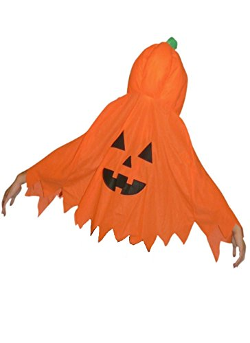 [Fantasy World Womens Jo02a Pumpkin Costume Cape, One Size Fits All] (Adult Pumpkin Halloween Costumes)