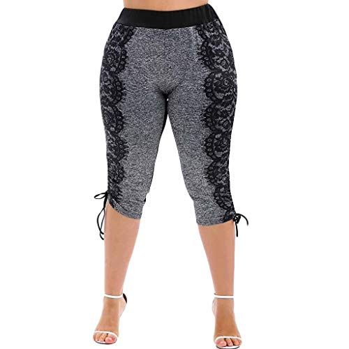 LISTHA Fashion Women Yoga Leggings Lace Plus Size Skinny Sport Pants Exercise Trousers (Girls Shorts Bermuda Plaid)