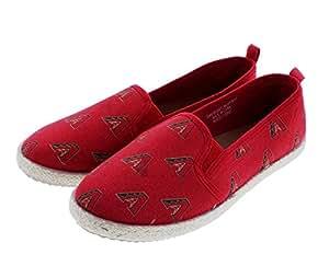 Arizona Diamondbacks MLB Womens Canvas Espadrille Shoes - Small