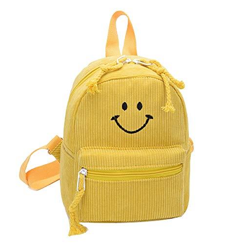 Cinhent Backpacks Fashion Children Kids Smiley Parent-Child Cute Back School Bag (Yellow)