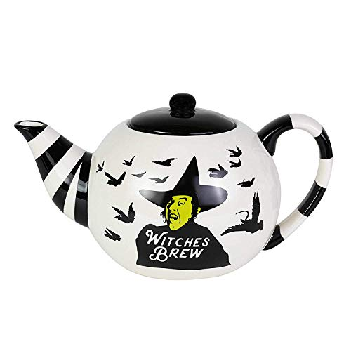 Enesco 6003838 Our Our Name is Mud The Wizard of Oz Witches Brew Striped Teapot, 24 Ounce, Multicolor